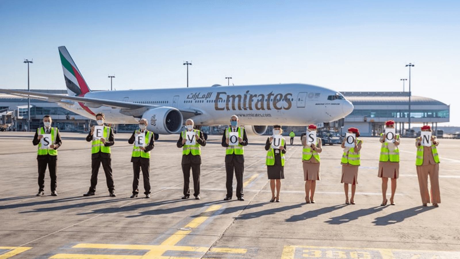 Desde distintas partes del mundo, Emirates dice 'Hasta pronto' y anuncia la suspensión temporaria de todos sus vuelos 1
