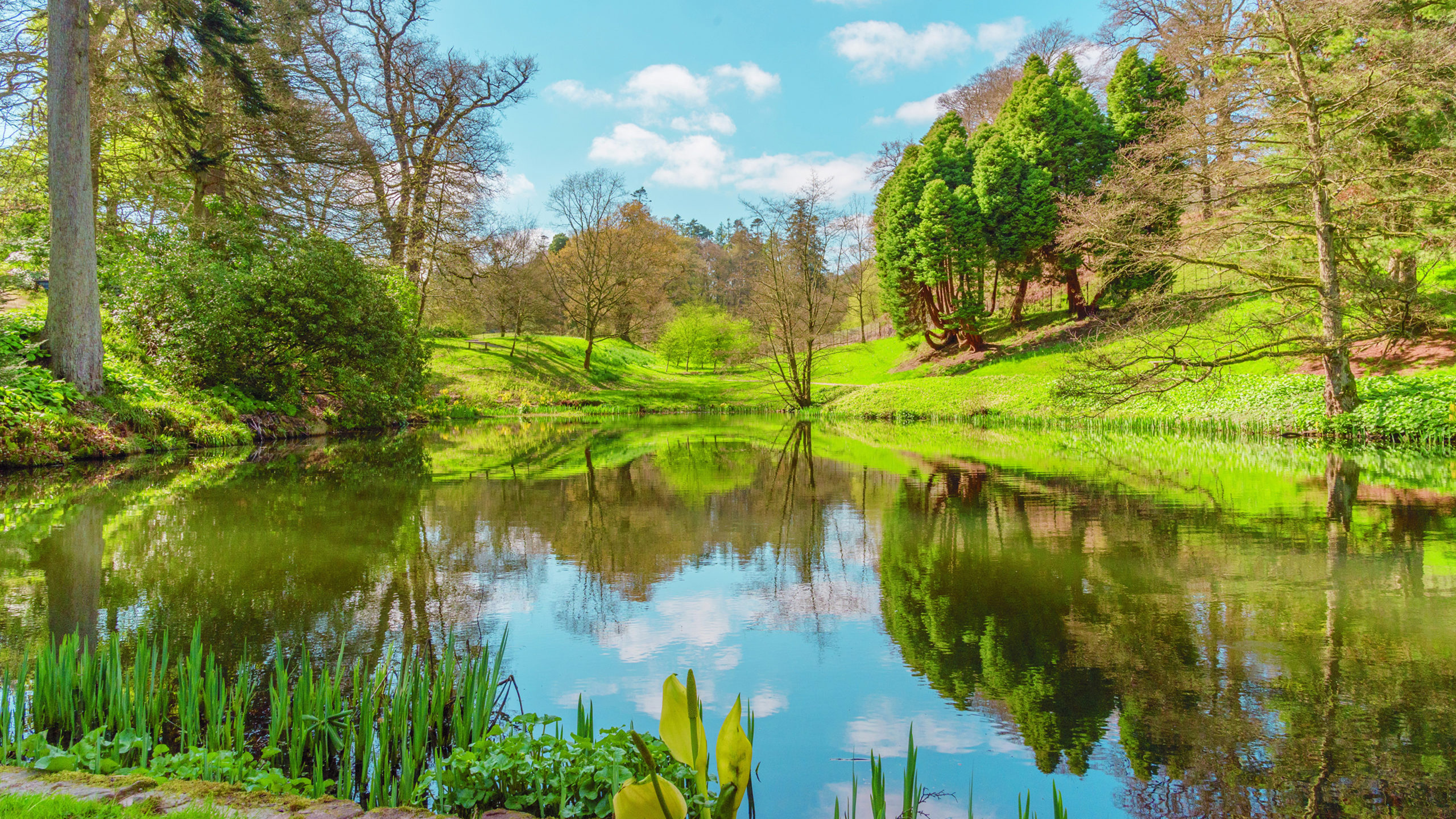 United_Kingdom_Spring_Lake_Scenery_Powys_County_521973_3840x2160