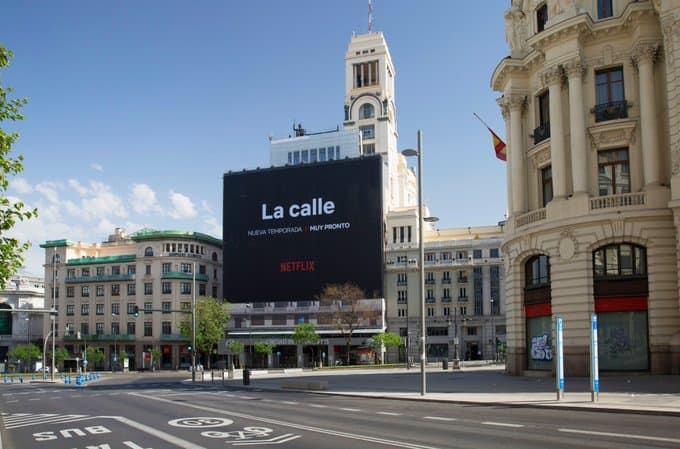 Netflix anuncia el estreno de La calle una acción de marketing ideal