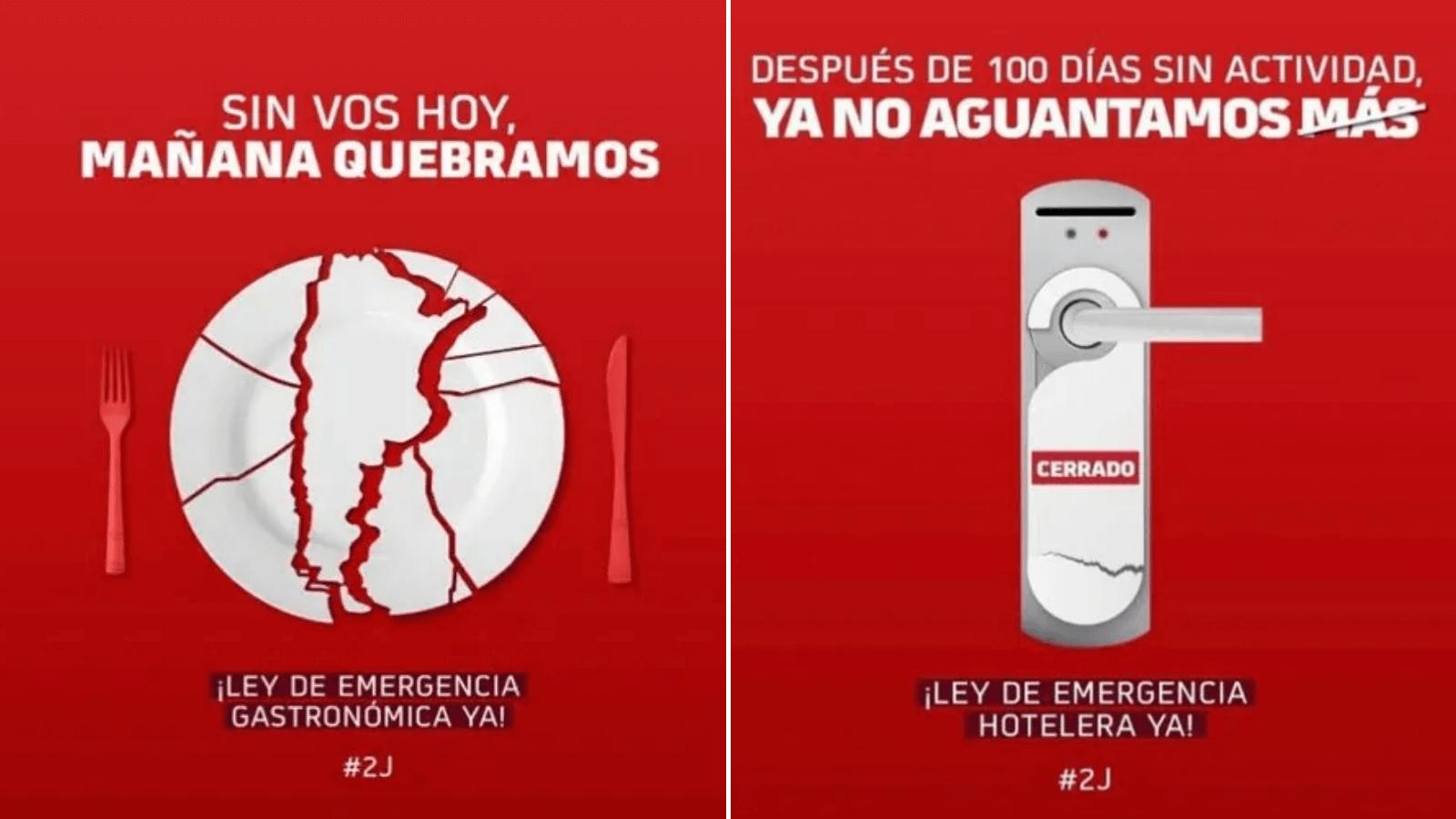 Hoteleros y gastronómicos de Argentina se unen en redes sociales para exigir una Ley de Emergencia ante crisis por Covid-19 1