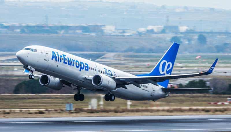 Air Europa reanuda vuelos a destinos latinoamericanos a partir de noviembre y diciembre