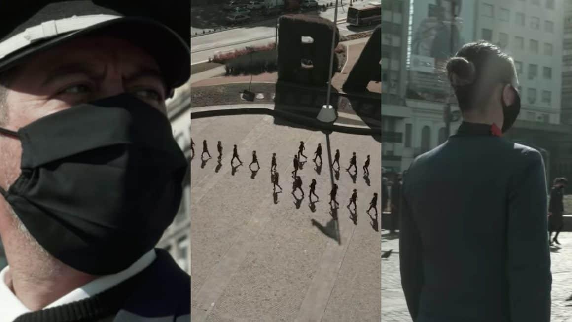 Trabajadores de LATAM Argentina realizaron un creativo video para protestar frente al obelisco 8